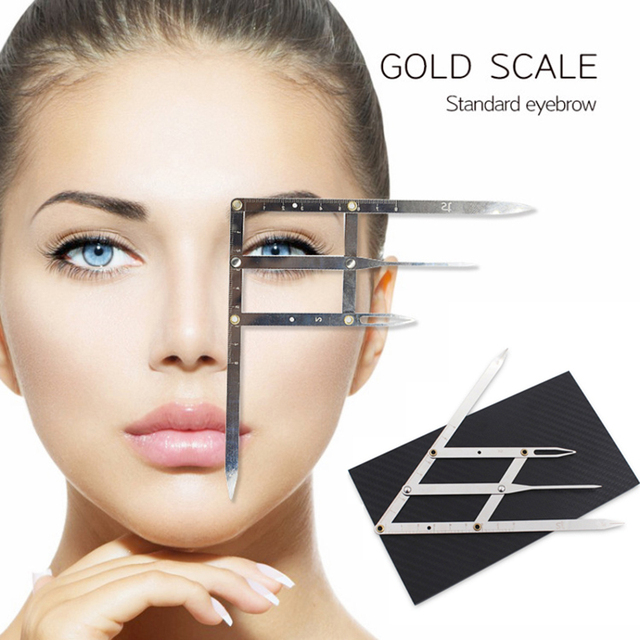Permanent Makeup Ruler Golden Ratio Measure Microblading ruler eyebrow shaping Makeup Tattoo Shaping Stencil Measuring Tool
