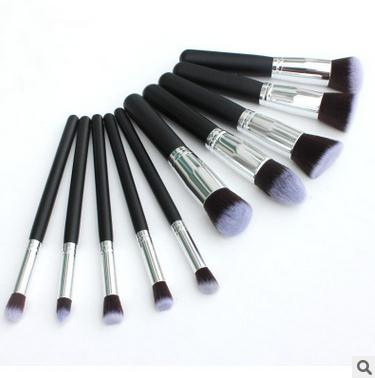 10pcs/lot Makeup brushes pincel maquiagem make up brushes pinceaux maquillage silver handle fsc tube professional set pole