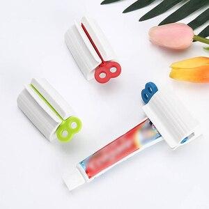 Image 5 - Banyo aksesuarları seti haddeleme diş macunu sıkacağı tüp diş macunu diş macunu sıkacağı dağıtıcı yaratıcı diş macunu tutucu