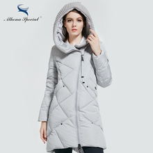 Athena Special 2017 New Winter Collection Brand Fashion Bio Down Thick Women Jacket Hooded Women Parkas Coats Plus Size 5XL 6XL(China)