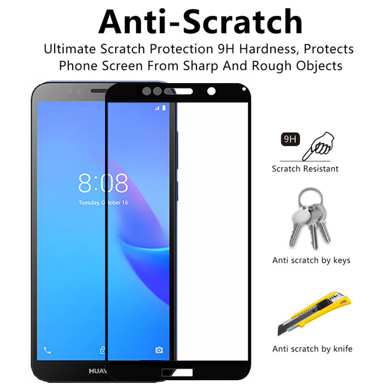 Image 2 - 9H Protective Glass On Y6 2019 For Huawei Y6 Prime Y7 Pro Y5 Y9 Y 5 6 7 9 2019 Tempered Glass Safety Film Screen Protector Glas-in Phone Screen Protectors from Cellphones & Telecommunications