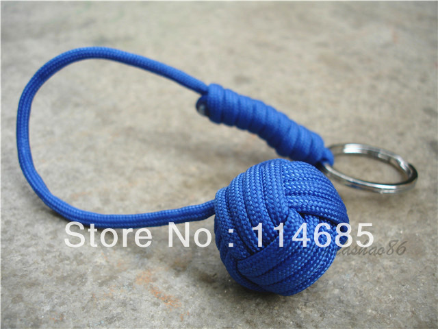 how to make a paracord monkey fist keychain