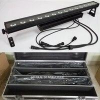 (8lot+flycase)Led wall light outdoor strip 14x30w dmx rgb down light wall washer dmx led dot matrix