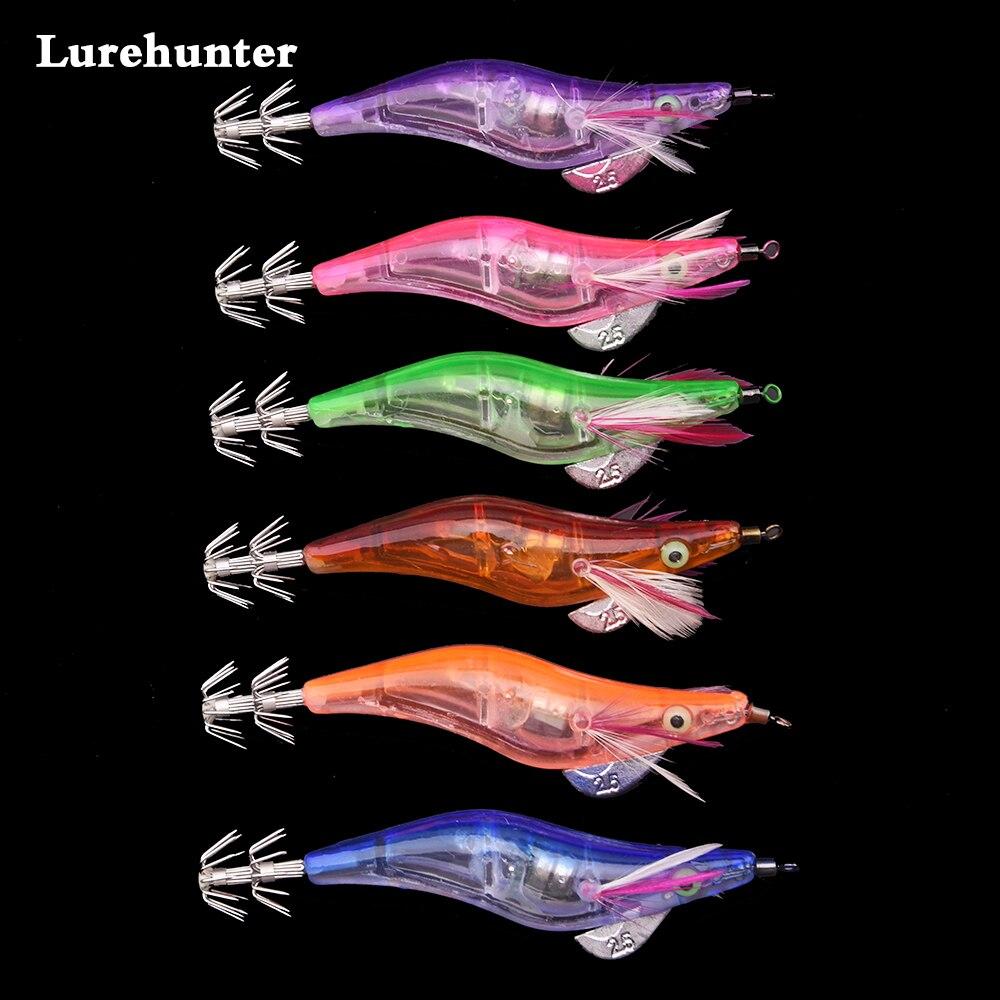 Venta caliente 48 unids lote pesca calamar luz plantillas señuelos luz LED  electrónicos camarones forma Señuelos de Pesca en Señuelos de pesca de  Deportes y ... b0a3d6a9943