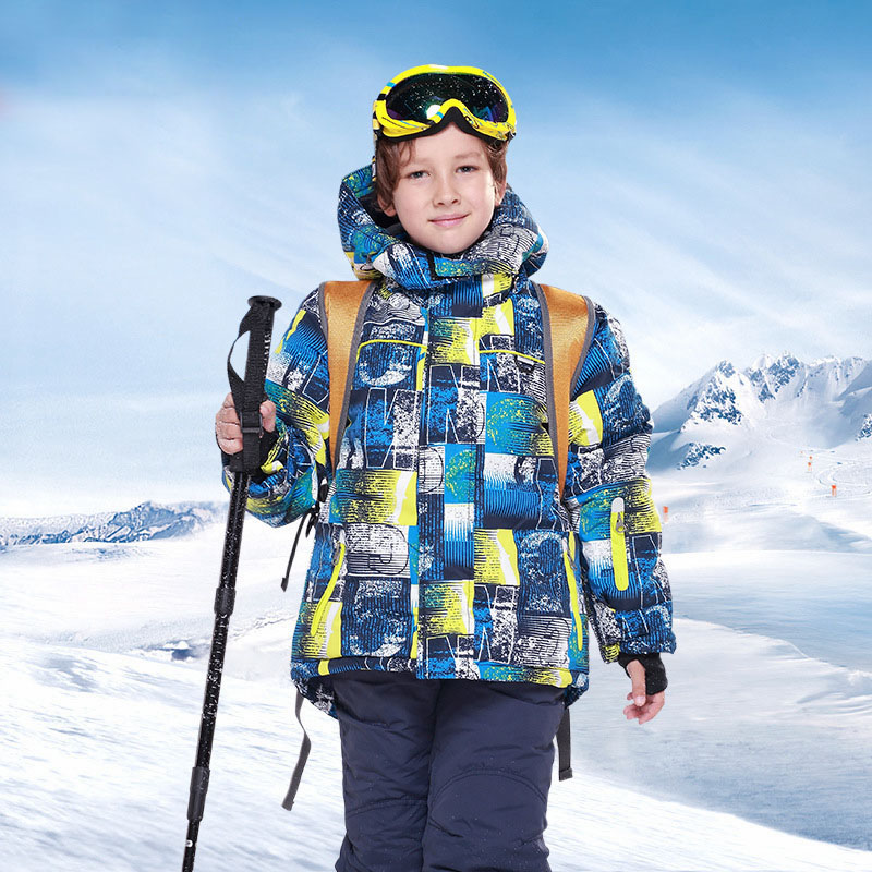 For -30 Degree Warm Coat boys Jackets Kids Clothes Sets For -30 Degree Warm Coat Children Outerwear For 3-15T 30#