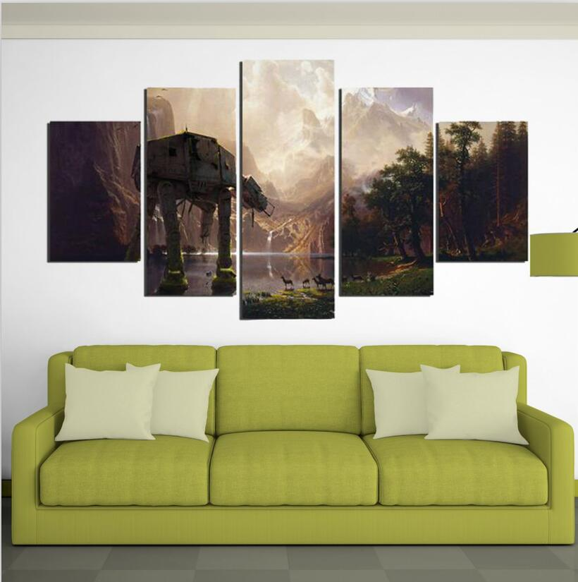 5 Piece Canvas Printed Star Wars Wall Art Painting Pictures Home ...