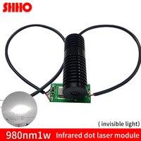 Новый продукт высокого качества 980nm 1 Вт Инфракрасный dot лазерный модуль размер 20*60 мм супер яркий заполняющий свет ИК свет ночного видения ч
