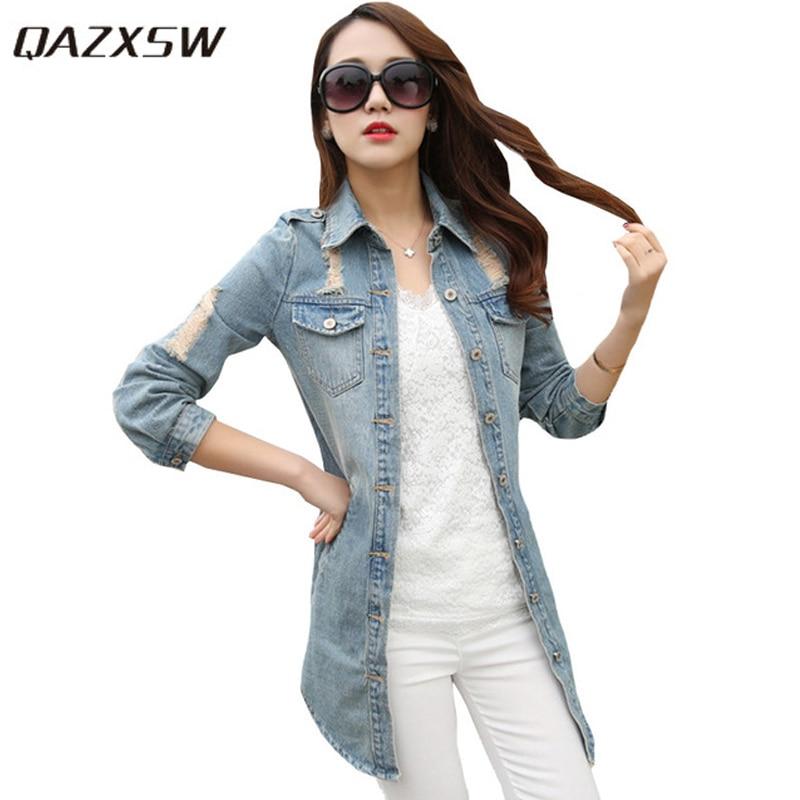 """""""QAZXSW"""" moteriški pagrindiniai paltai pavasario rudens skylės - Moteriški drabužiai"""