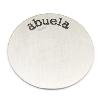 Carvort 22.5mm 316L Stainless steel Silve abuela plates for 30mm round locket(inner diameter is 23mm) image