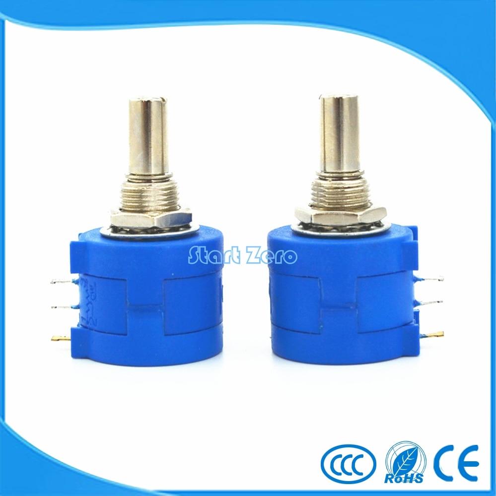 2PCS 3590S-2-103L 3590S 1K~100K ohm Precision Multiturn Potentiometer 10 Ring Adjustable Resistor  цены