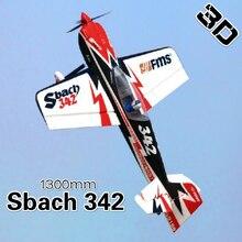 FMS 1300 MM 1,3 M Sbach 342 4CH 4S resistente EPO acrobático 3D PNP Avión RC Radio Control Hobby modelo avión avión deportes Avion