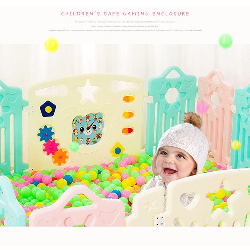Bébé parcs ensemble bébé sécurité clôture bébés jeu garde-corps 26 pièces ensembles complets haute qualité enfants parc charge 100 KG jeu clôture