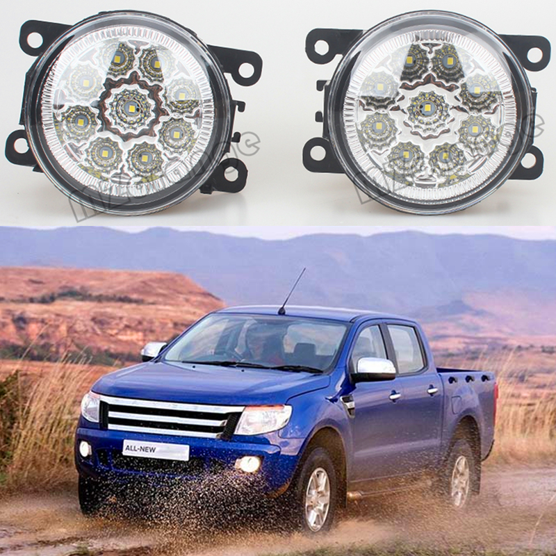 2pcs/set Fog Lights For FORD Ranger 2012-2015 Front Bumper LED High Brightness Fog Lamps DRL for opel astra h gtc 2005 15 h11 wiring harness sockets wire connector switch 2 fog lights drl front bumper 5d lens led lamp