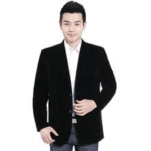 WAEOLSA Man Black Velvet Blazer Men Smart Casual Jacekts Suits Velour Suit Coat Male Elegance Blazers Plain Tailored Garment