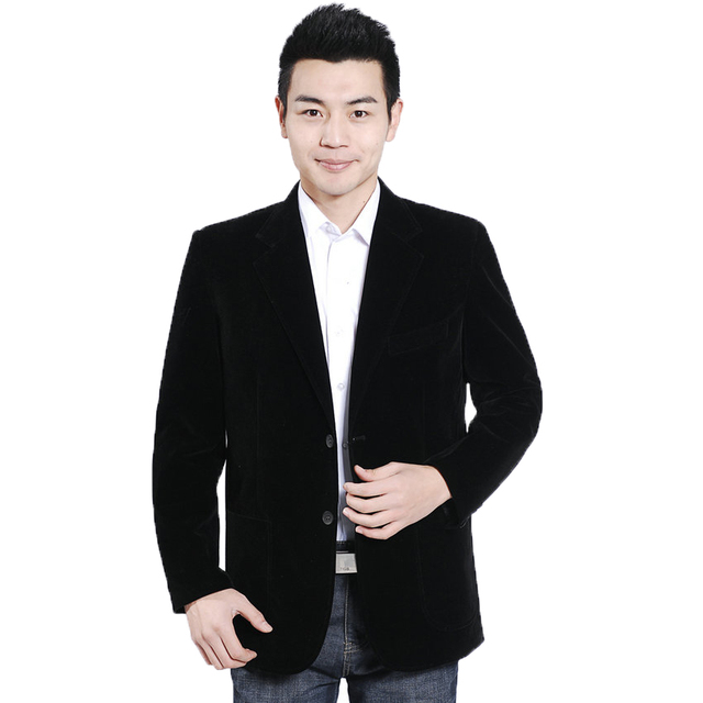 WAEOLSA Man Black Velvet Blazer Men Smart Casual Jacekts Suits Velour Suit Coat Male Elegance Blazers Men Plain Tailored Garment