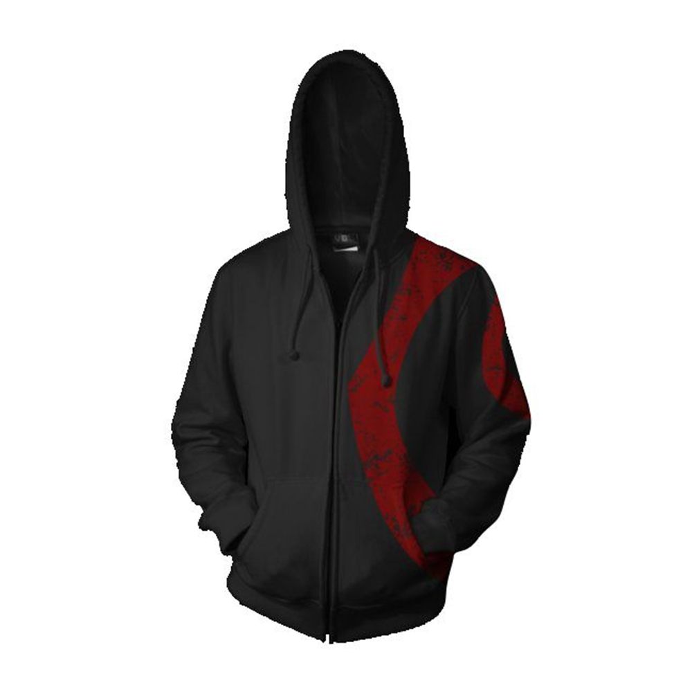 Game God of War Ghost of Sparta Hoodies Kratos 3D Print Men Adults Hooded Sweatshirts Zipper Coat Hip Hop Streetwear Outfit