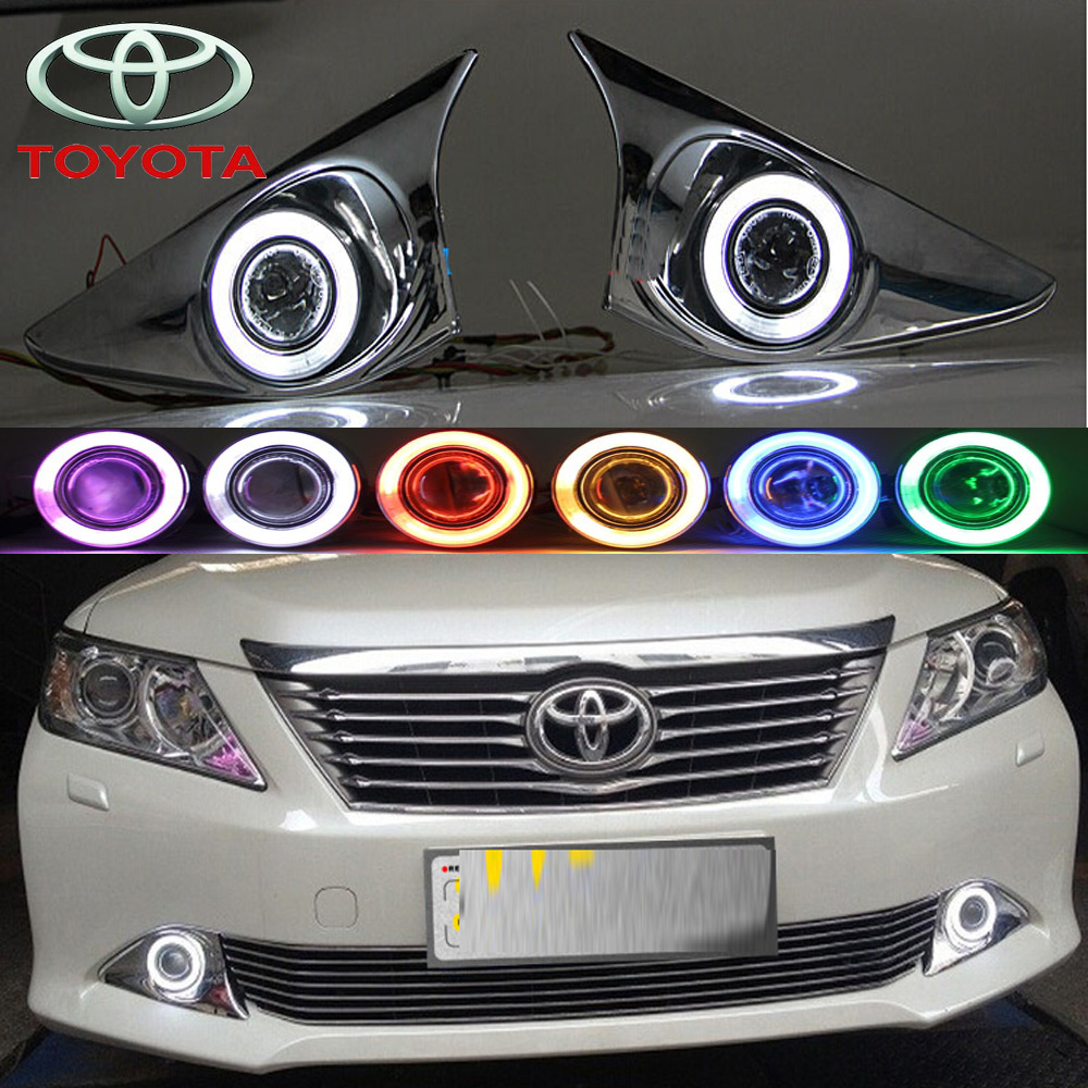 Car-styling,Camry fog lamp,2012,chrome,LED,Free ship!2pcs,Camry head light,car-covers,Halogen/HID+Ballast;Camry camry mirror lamp 2006 2007 2008 2009 2011 camry fog light free ship led camry turn light camry review mirror camry side light