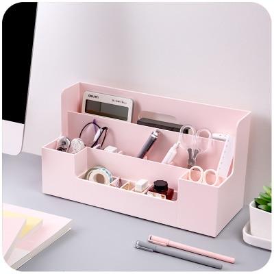 все цены на Multifunctional Office Desk Sets Desk Accessories Stationery Desk Organizer Classified Office Organizer Plastic Storage Box