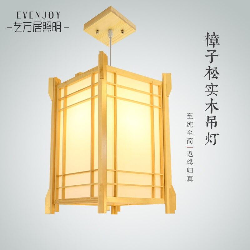 Japanese style Delicate Crafts Wooden Frame pendant Light led luminarias para sala dining room bedroom bar hanging light
