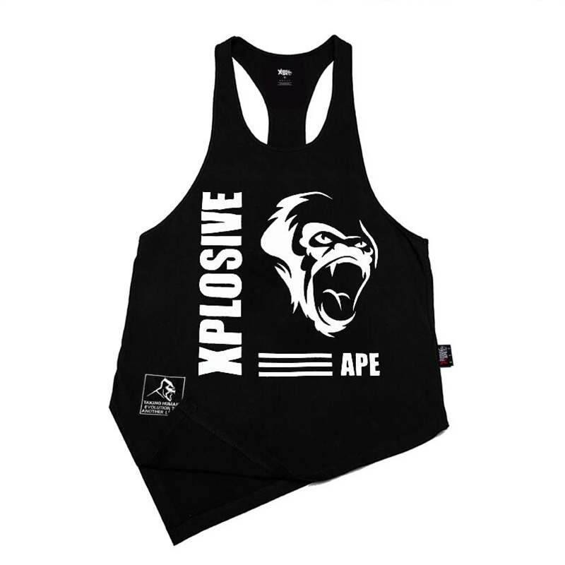 high quality Bodybuilding Sleeveless   Tank     Top   Mens Workout Fitness mens   Tank     Top   Sleeveless Shirt Man Breathable Undershirt