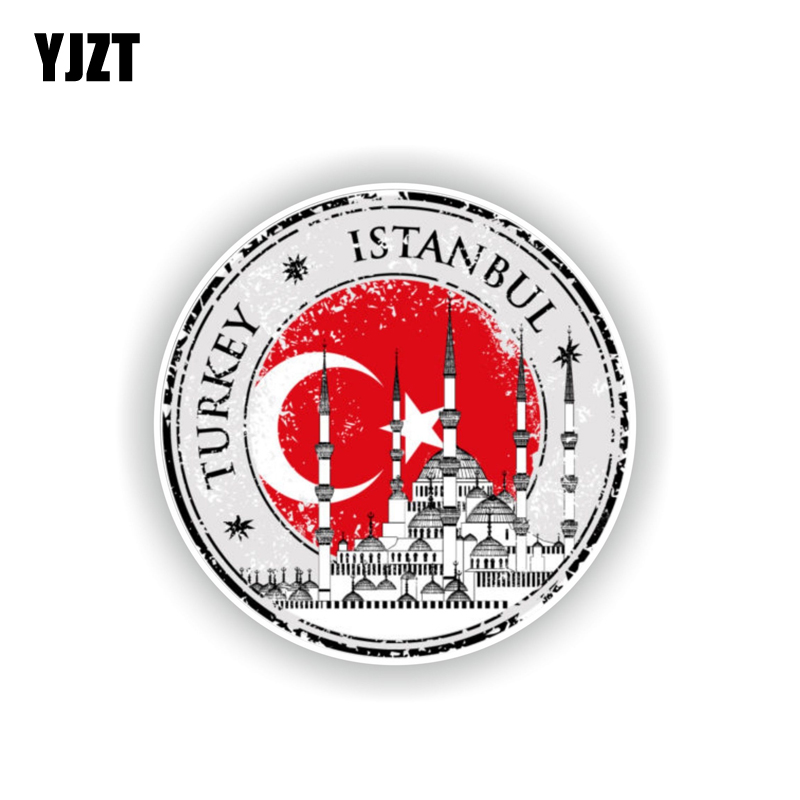 YJZT 10.5CM*10.5CM Personality Turkey <font><b>Istanbul</b></font> Car Sticker Motorcycle Body Decal Stciker 6-2219 image