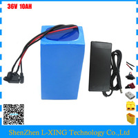 500W Battery 36v 10ah Electric bike battery 36 V 10ah lithium battery 36V 10AH li ion 36V10ah 42V 2A Charger Free customs fee