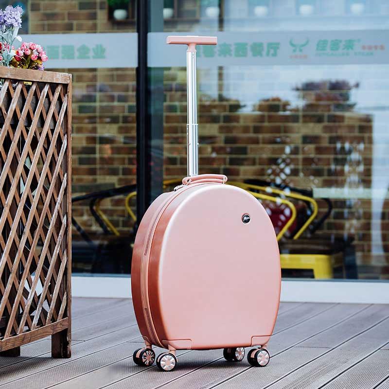 Bagaj ve Çantalar'ten Çek çek valizler'de LeTrend Yaratıcı Moda Haddeleme Bagaj Spinner Arabası 20 inç Kadın Kabin Bavul Tekerlekleri Şifre Seyahat Çantaları'da  Grup 1