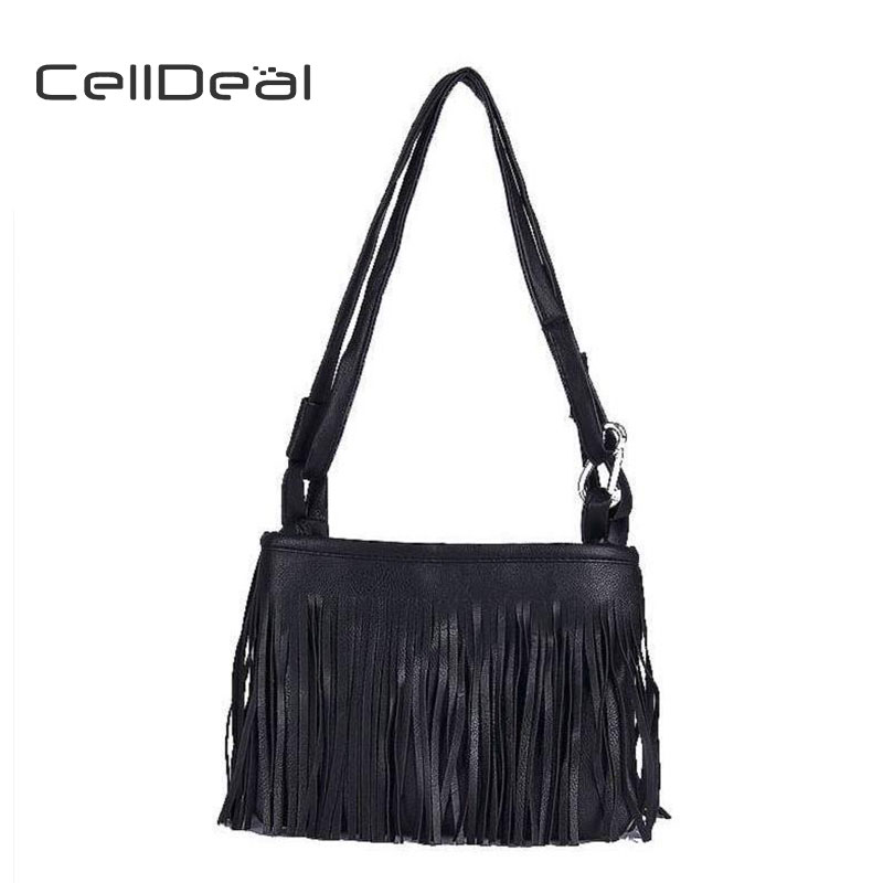 Celldeal High Quality Boho Tote Faux Suede Fringe Handbag Purse Messenger Bags Fashion Tassel Cross Body Shoulder Bag In Top Handle From Luggage