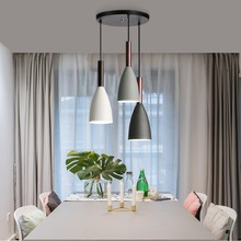 LukLoy Creative Simple LED Pendant Lights Nordic Single LED Pendant Lamps Dinning Table Cafe Bedroom Hanging Lighting Bar Office(China)