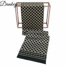 DANKEYISI настоящий Шелковый шарф для мужчин, деловой натуральный шелковый мужской шарф, Повседневный Королевский платок с принтом пейсли, длинный шарф, кашне