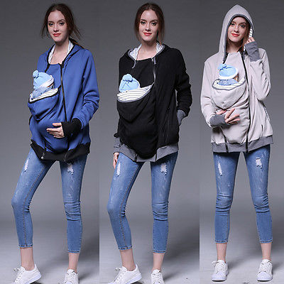 Jacket Kangaroo Winter Maternity Outerwear Coat for Pregnant Women Baby Carrier Women Maternity Hoodie
