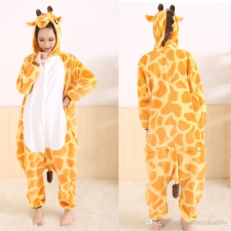 Funny Animal Pajamas Onesies For Adult Giraffe Onesies For Men And Women  One Piece Onesie Pajamas Animal Costume-in Men s Costumes from Novelty    Special ... 94c26c0e3