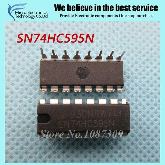 10 pcs frete grátis SN74HC595N SN74HC595 74HC595 74HC595N DIP-16 8-Bit Shift Contador Registra Tri-Estado original novo