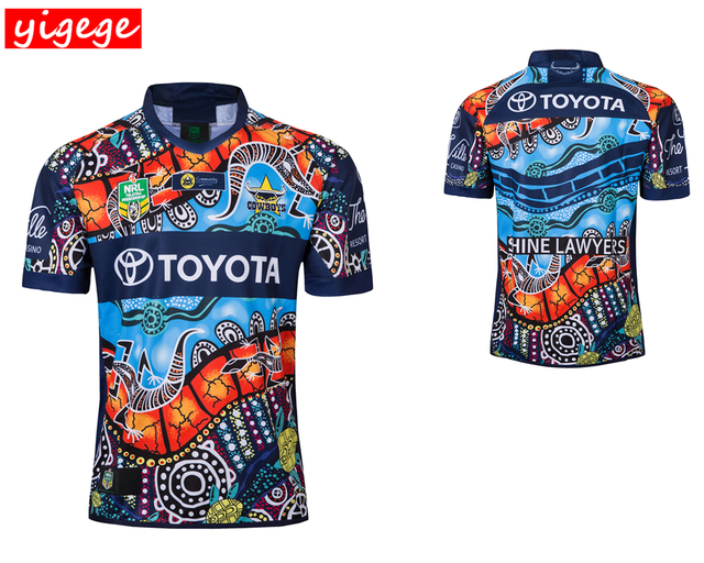 7e3181189 nrl Jersey 2018 North Queensland Cowboys INDIGENOUS rugby Jerseys home away  Jersey Rugby League Australia shirt