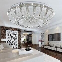Okrągłe LED kryształowe lampy sufitowe proste nowoczesne lampa do salonu lampa sufitowa oświetlenie do sypialni oświetlenie restauracji TA92014