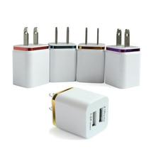 цена на Dual USB wall Charging Charger US EU Plug 2.1A AC Power Adapter Wall Charger Plug 2 port for Iphone Samsung Galaxy Note LG