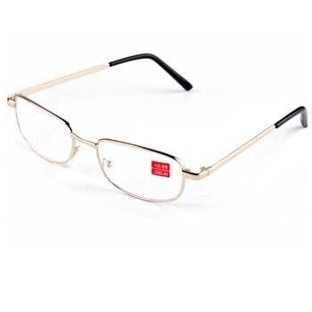 7bd83d3658 Venta caliente de alta calidad de Metal marco de lectura Gafas  hipermetropía Gafas hombres mujeres lente antifatiga Leesbril dioptrías  Gafas A1