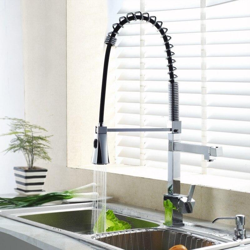 BECOLA robinet de cuisine à eau chaude froide type à tirer robinet de cuisine grand bassin carré robinet de lavabo livraison gratuite CH-8094