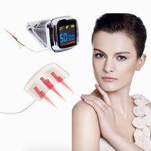 Reloj de pulsera con láser para alivio del dolor, dispositivo de terapia láser para tratamiento de presión arterial alta, presión arterial, 18 haces bio 650nm