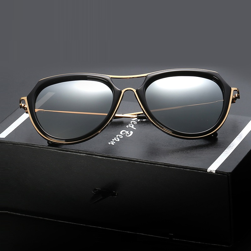 width-150 NEW Star female fashion trendsetter round Sunglasses women big frame Polarized UV400 retro Mirro sunglasses oculos