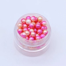 1Pack 3mm 4mm 5mm 6mm 8mm Peach Red Colorful Multicolor No holes Round Imitation Garment Pearl For Fashion Jewelry Making 4#