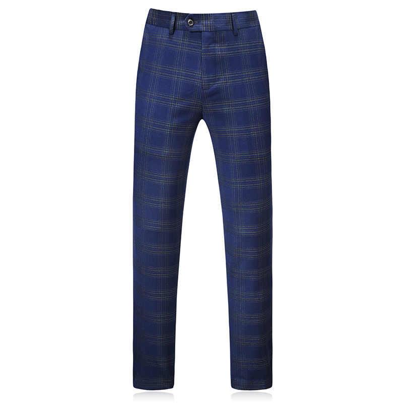 MOGU/модные мужские костюмы-тройки, двубортные, Новое поступление 2018, синие и зеленые клетчатые костюмы, облегающий костюм-смокинг 5XL