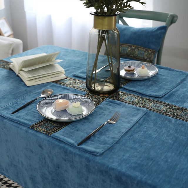 Embroidered Tablecloth Party Hotel Party Table Cover White Kitchen Table  Cloths For Home Rectangular Tablecloths For