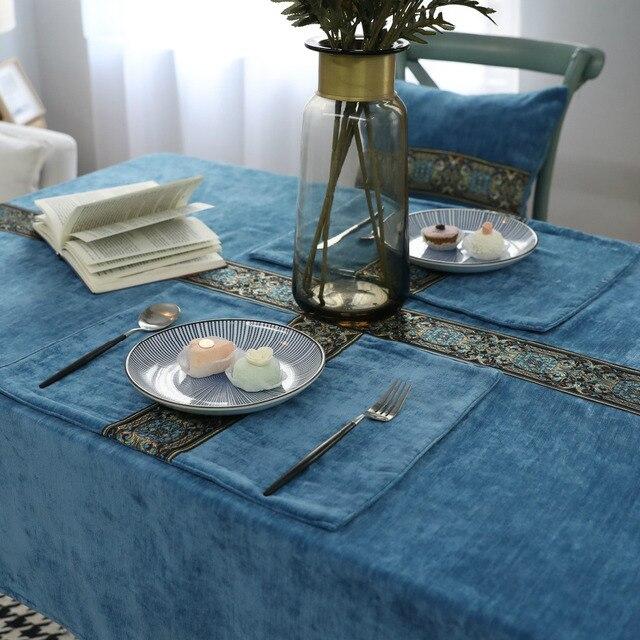 Tovaglia ricamata party Hotel Partito table cover bianco cucina ...
