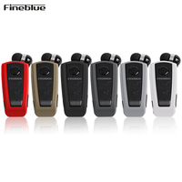 Fineblue F910 Wireless Bluetooth 4 0 Neck Clip Telescopic Type Business Earphone Vibration Wear Clip Stereo