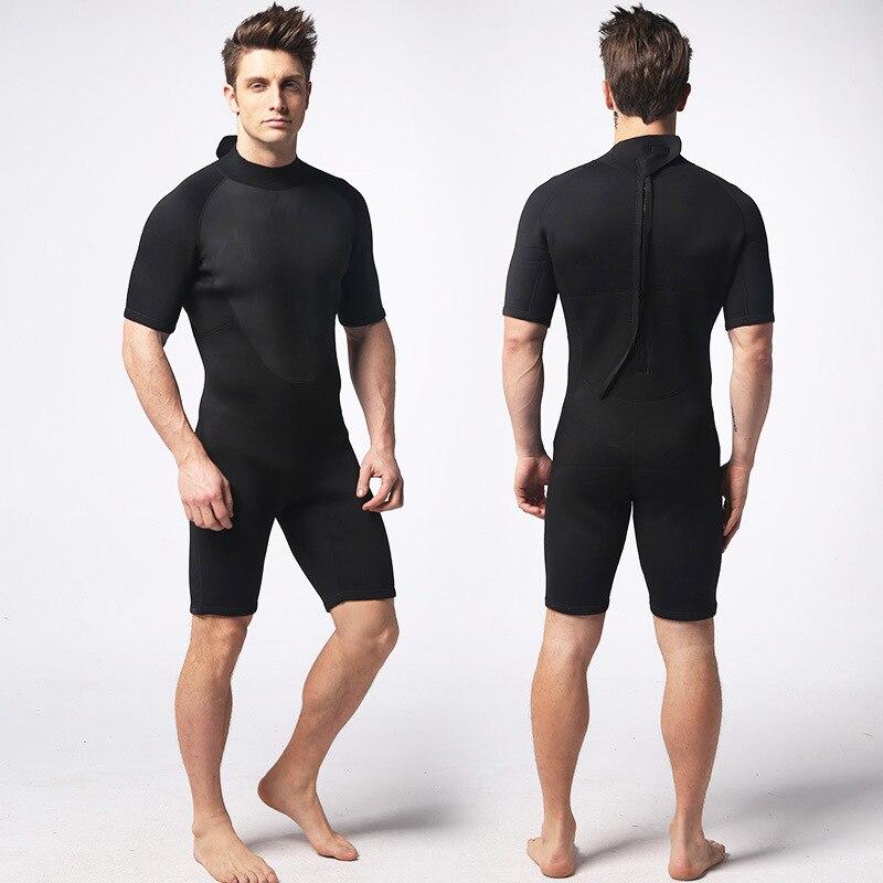 3mm Néoprène homme Combinaisons Garder Au Chaud Etanche Plein Body Manche Courte Plongée Surf Plongée Combinaisons De Plongée
