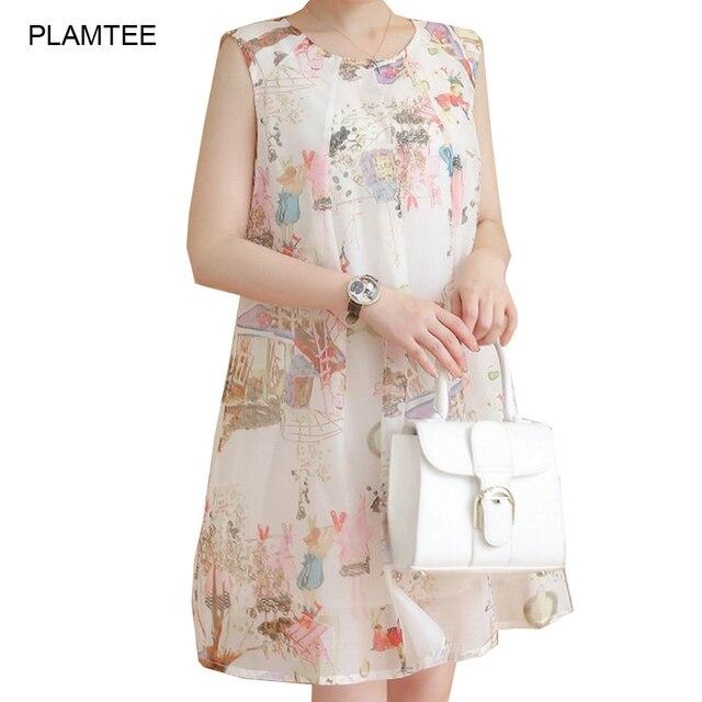 Soft Fashion Print Chiffon Hamile Elbisesi O Neck Sleeveless Summer Dresses for Pregnant Women Vestidos Gravida A Line Jurken