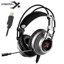 XIBERIA K9 Virtual 7.1 Sound Gaming Headset casque Best PC Gamer USB Stereo Bass Headphones with Microphone for Cumputer Game цены
