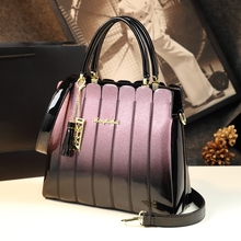 ICEV 2020 newest women leather handbags designer high quality patent leather clutch boston tote top handle bags ladies business