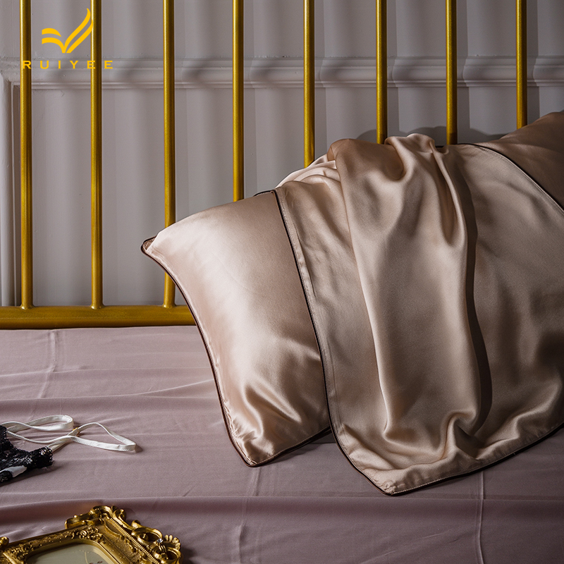 16m m Envelope pillow case Single side Silk Pillow case RUIYEE brand Satin Pillow Cover 100